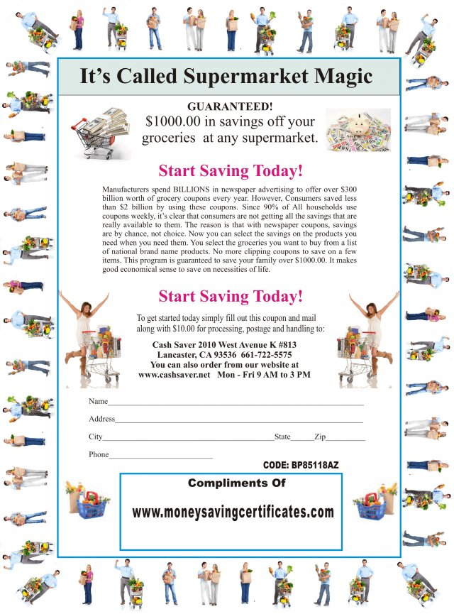Grocery And Restaurant Certificates Moneysavingcertificates